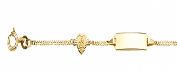 Kinder ID Armband 333er Gelbgold Engel