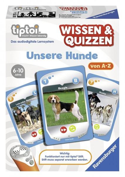 Ravensburger tiptoi 00755 - Wissen & Quizzen- Unsere Hunde