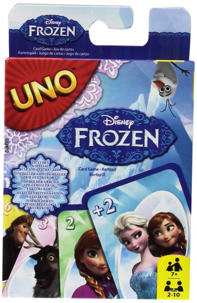 Mattel Spiele- Kartenspiele, UNO Die Eiskönigin