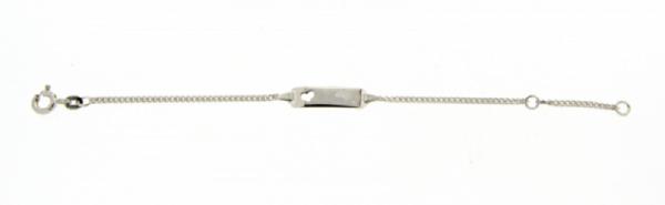 Kinder ID Armband Herz 925- Silber