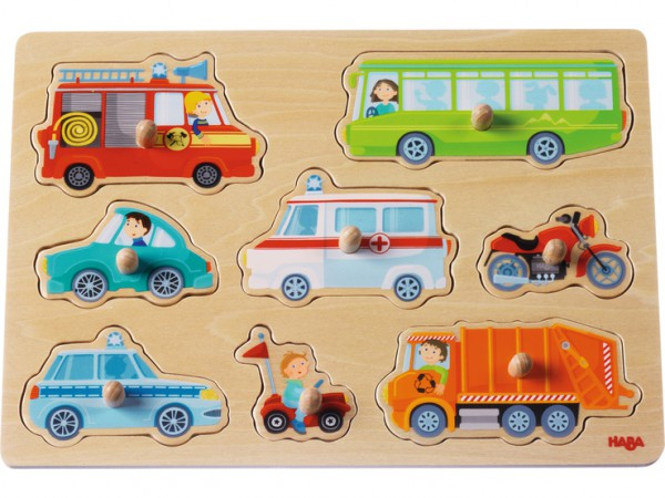 HABA 301940 Greifpuzzle Fahrzeug-Welt
