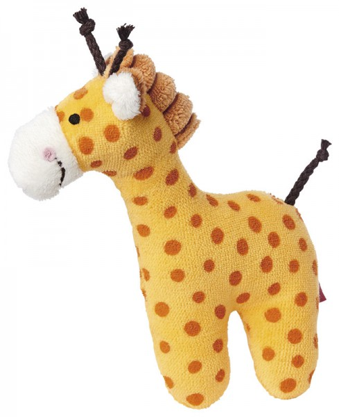 Sigikid -41170- Rassel Giraffe Red Stars Collection