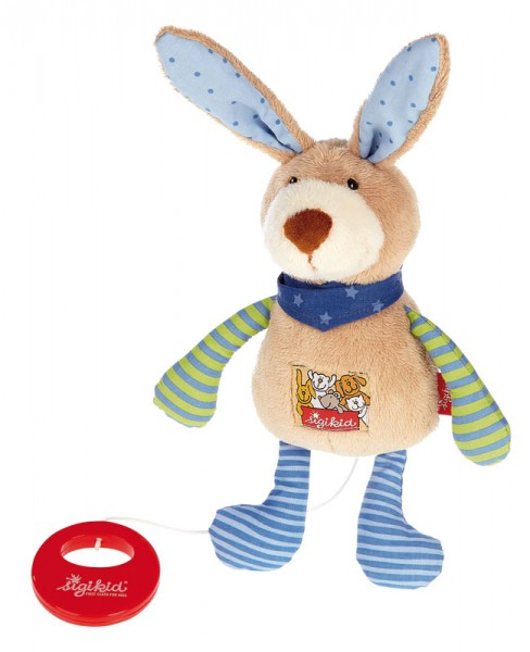 Sigikid-40356-Spieluhr Hase Red Stars Collection