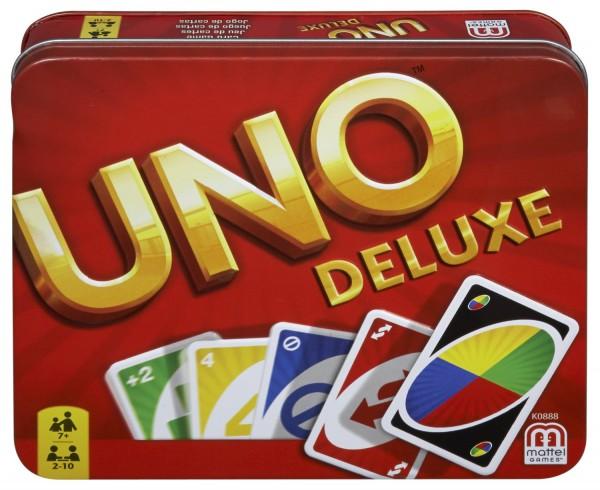 Mattel - UNO Deluxe, Kartenspiel