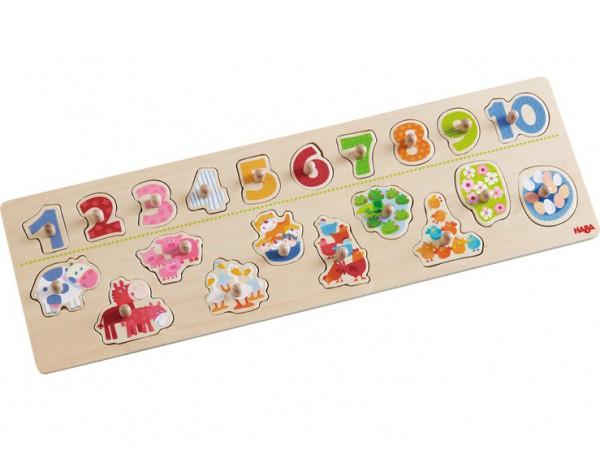 Haba 301961 Greifpuzzle Tierischer Zählspaß
