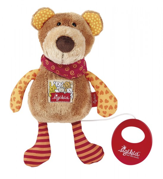 Sigikid -40357-Spieluhr Bär Red Stars Collection